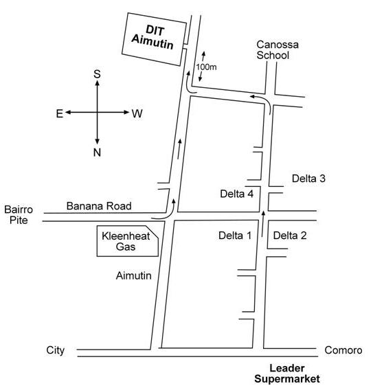 Map to Aimutin campus